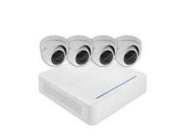 ABUS Überwachungsset mit 4 Außen Dome Kameras | TVVR33418